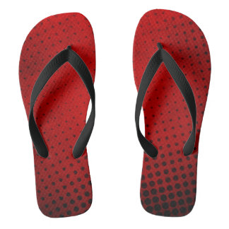 Halftone pattern background flip flops
