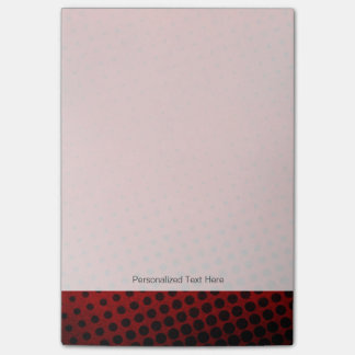 Halftone pattern background post-it notes