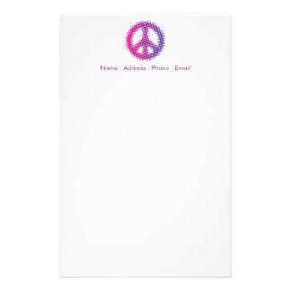 Halftone Peace Symbol Customized Stationery