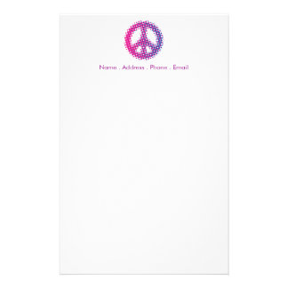 Halftone Peace Symbol Stationery Design