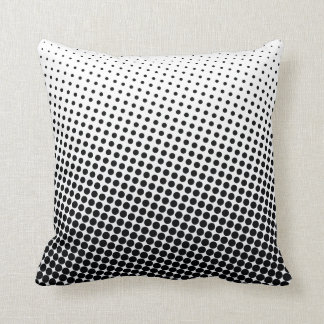 Halftone Pop Art Dot Pattern Black and White Cushion
