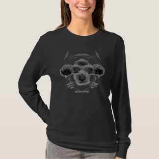 Halftone Roses & Tribal Pattern: Custom Shirt