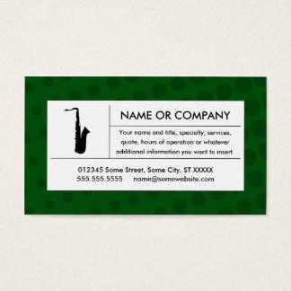 halftone saxophone business card