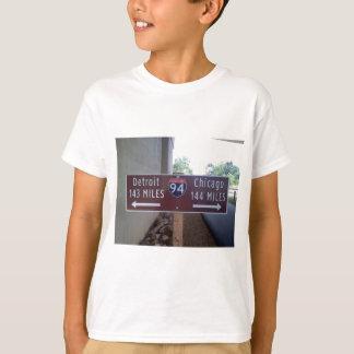 Halfway Point, Detroit Chicago. T-Shirt