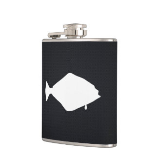 Halibut Fishes Minimal Hip Flask