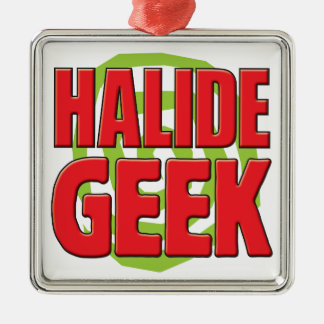 Halide Geek Silver-Colored Square Decoration