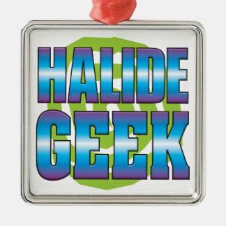 Halide Geek v3 Silver-Colored Square Decoration
