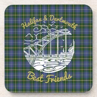 Halifax Dartmouth Best Friends drink coaster set