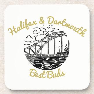 Halifax & Dartmouth drink coaster best buds