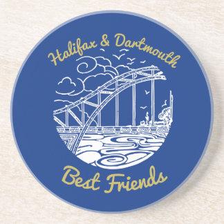 Halifax Dartmouth N.S. Best Friends coaster blue