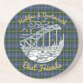 Halifax Dartmouth N.S. Best Friends coaster tartan