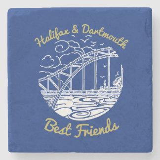 Halifax Dartmouth N.S. Best Friends stone coaster