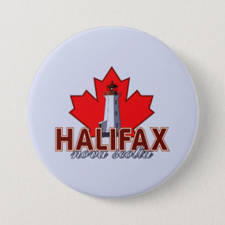 Halifax Lighthouse 7.5 Cm Round Badge