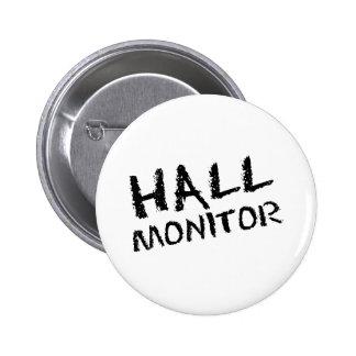 Hall Monitor Black 6 Cm Round Badge