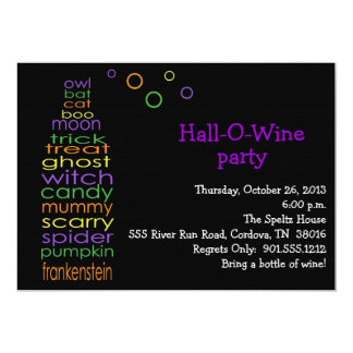 Hall-O-Wine Invitation