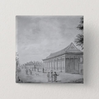 Hall of Audience at the Old Summer Palace, 15 Cm Square Badge