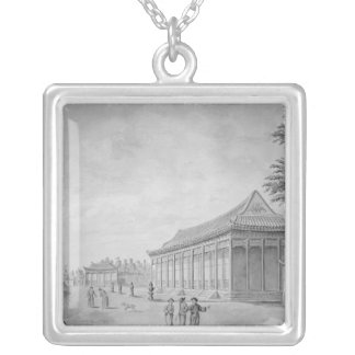 Hall of Audience at the Old Summer Palace, Silver Plated Necklace