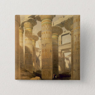"""Hall of Columns, Karnak, from """"Egypt and Nubia"""", V 15 Cm Square Badge"""