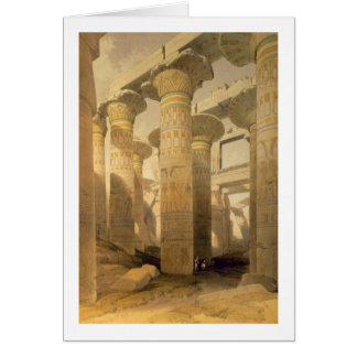 "Hall of Columns, Karnak, from ""Egypt and Nubia"", V Card"