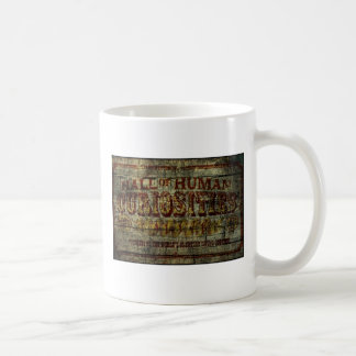 Hall of Human Curiosities Vintage Banner Basic White Mug