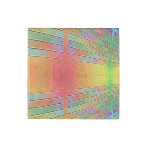 Hall of Information Abstract Stone Magnet
