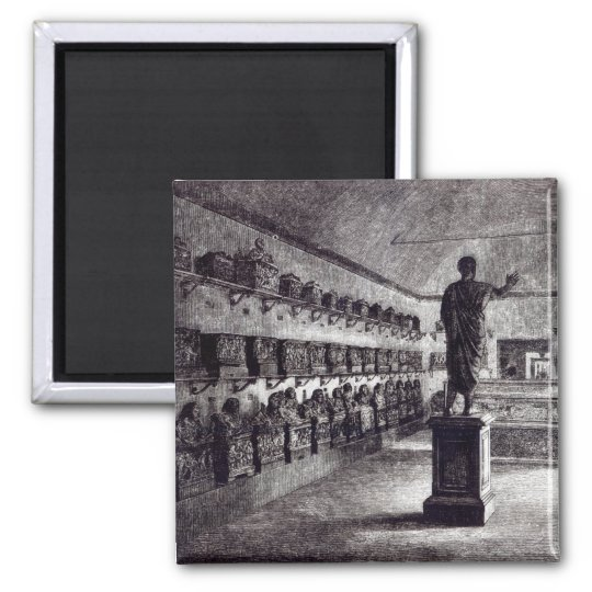 Hall of the Arringatore, Etruscan Museum Square Magnet