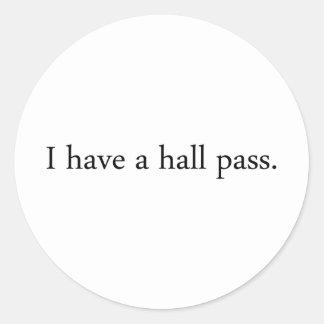 Hall Pass Stickers