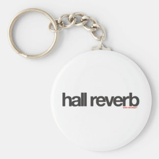 Hall Reverb Basic Round Button Key Ring