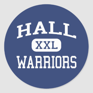 Hall - Warriors - High - West Hartford Connecticut Classic Round Sticker