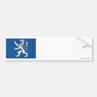 Hallands län flag bumper sticker