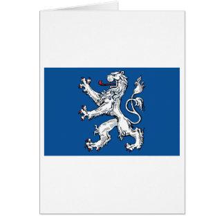 Hallands län flag greeting card