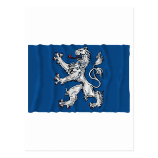 Hallands län waving flag postcard