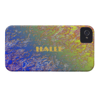 Halle Blue and Yellow iPhone 4 case