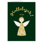 Hallelujah Angel Funny Christmas Holiday Greeting Greeting Card