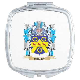 Halley Coat of Arms - Family Crest Mirror For Makeup