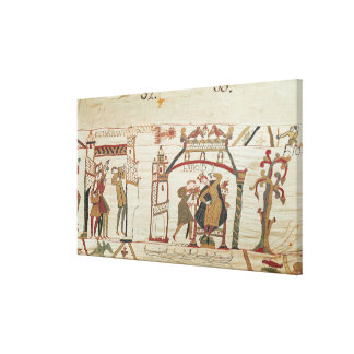 Halley s Comet and Harold Receiving Bad News Gallery Wrapped Canvas