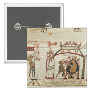 Halley's Comet and Harold Receiving Bad News 15 Cm Square Badge