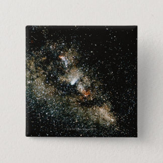 Halleys Comet  in the Milky Way 15 Cm Square Badge