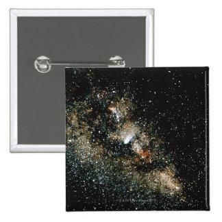 Halleys Comet  in the Milky Way 15 Cm Square Badge