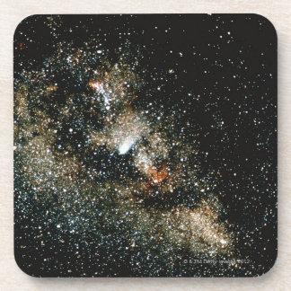 Halleys Comet in the Milky Way Beverage Coaster