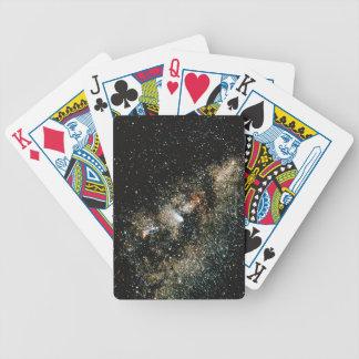 Halleys Comet in the Milky Way Poker Deck