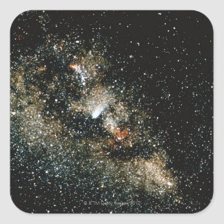 Halleys Comet  in the Milky Way Square Stickers
