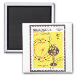 Halleys Comet Inner Planets Square Magnet