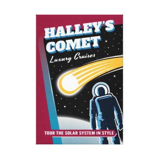 Halleys Comet Luxury Cruises Retro Sci-Fi Canvas Print