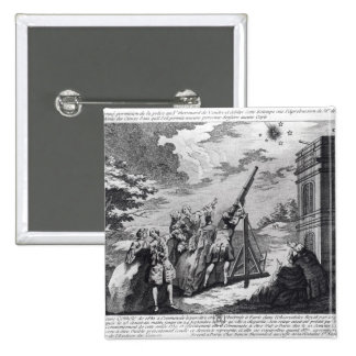 Halley's Comet Observed in 1759 by Cassini III 15 Cm Square Badge
