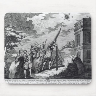 Halley's Comet Observed in 1759 by Cassini III Mouse Mat