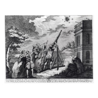 Halley's Comet Observed in 1759 by Cassini III Postcard