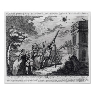 Halley's Comet Observed in 1759 by Cassini III Poster