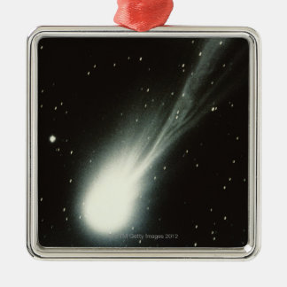 Halleys Comet Silver-Colored Square Decoration