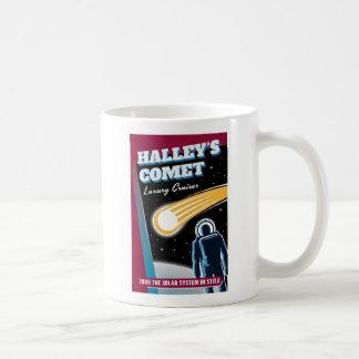 Halleys Comet Space Cruise Illustration Coffee Mug
